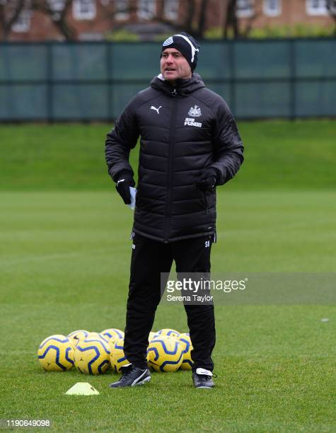 First team coach Steve Harper during the Newcastle United Training Session at the Newcastle United Training Centre on November 28 2019 in Newcastle...