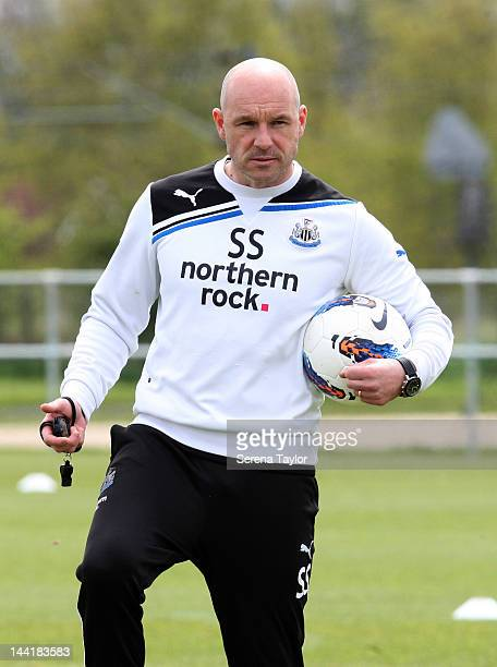 First Team Coach Steve Stone during a Newcastle United Training Session on May 11 in Newcastle upon Tyne, United Kingdom.