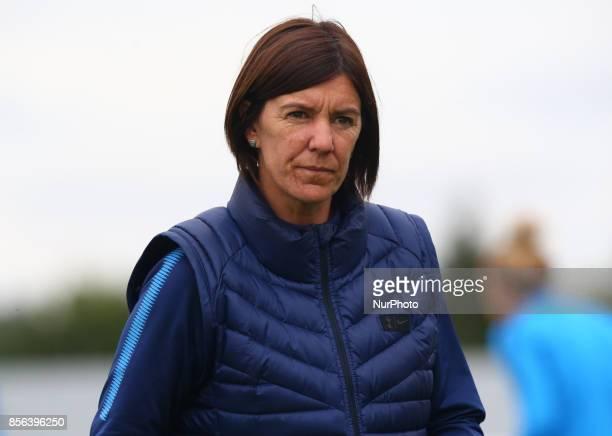 First Team Manager Karen Hill of Tottenham Hotspur Ladies during Women's Super League 2 match between Tottenham Hotspur Ladies against Aston Villa...