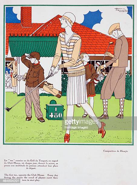 'First Tee at Golf du Torquet' art deco poster c1920s