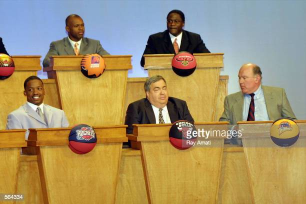 First three winners in this years NBA Draft Lottery are LR #1 Steve Francis of the Houston Rockets #2 Jerry Krause Exececutive Vice President of...