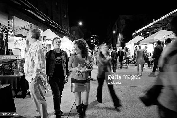 first thursday in portland - thursday stock pictures, royalty-free photos & images