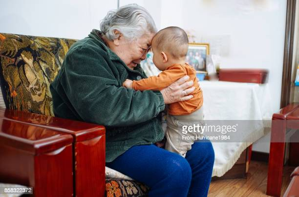 First time to meet my great-grandson