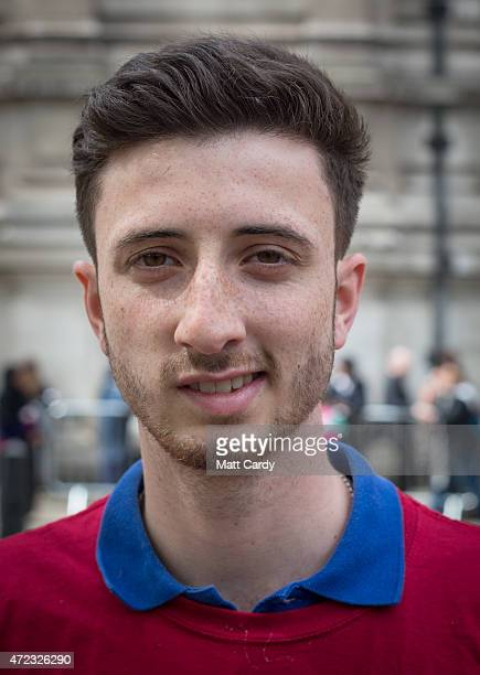 First time voter Daniel Bolton an energy analyst from London poses for a photograph on May 4 2015 in London England Asked what was the single most...