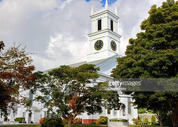 primeiro reino metodista igreja, chatham, costa cape cod, massachusetts, eua. - methodist church imagens e fotografias de stock
