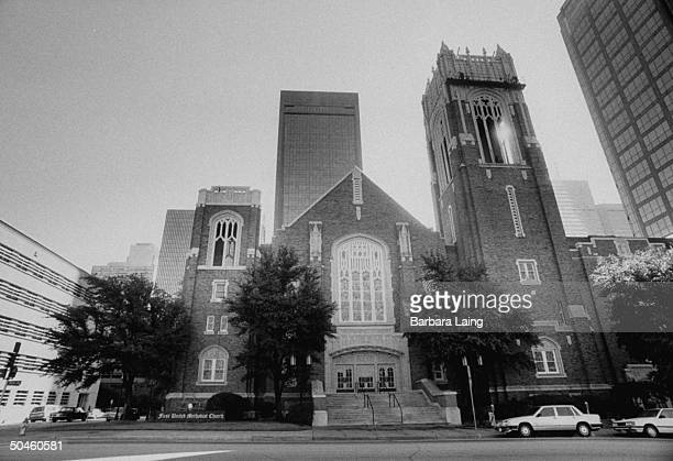 First United Methodist Church where Reverend Walker Railey preached before resigning leaving Texas suddenly after being suspected of nearly...