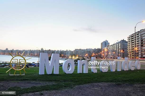"""First version of the big sign that stated """"Montevideo"""" and that was inaugurated due to the B.I.D. Governor's Assembly that started on March 12th in..."""