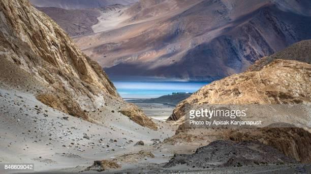 First view of Pangong Lake, Leh Ladakh, India
