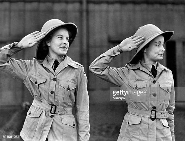 First WAAF to serve in India being kitted up at a N West personnel Despatch centre. Corporal Kathleen Hale of Gateshead and Sergt Pamela Smith of...