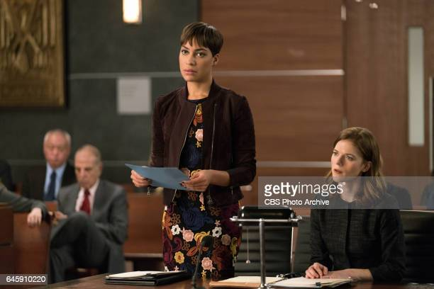 First Week Ep 102 Episodic coverage of THE GOOD FIGHT Pictured Cush Jumbo as Lucca Quinn Rose Leslie as Maia Rindell