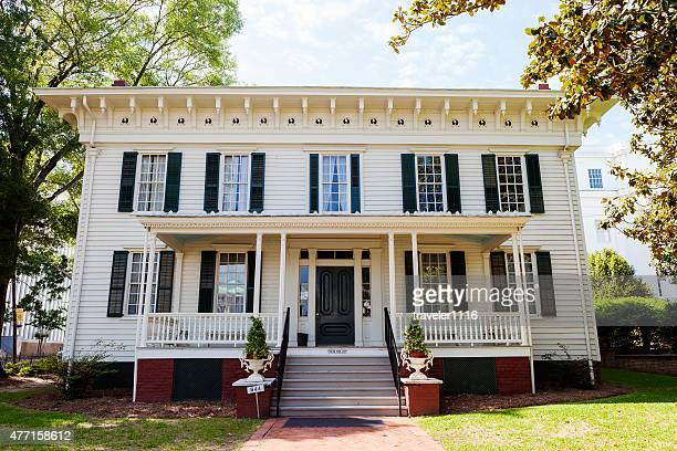 first white house of the confederacy in montgomery, alabama - montgomery alabama stock pictures, royalty-free photos & images