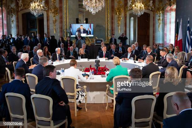 First working session during the 14th informal meeting of the Arraiolos Group at Rundale Palace in Rundale Latvia on 13 September 2018 The Arraiolos...