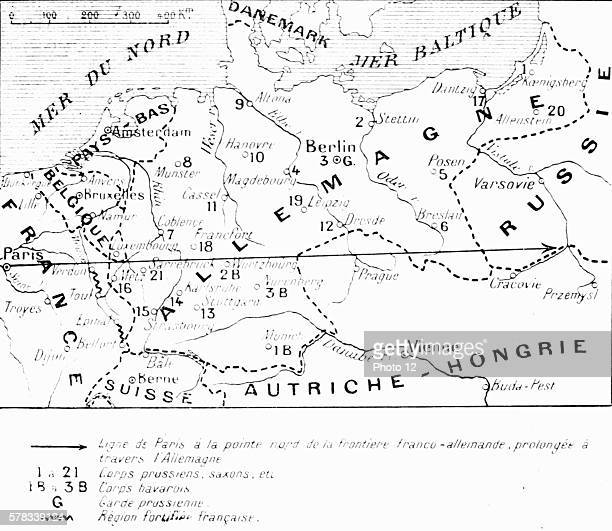 First World War Line from Paris to the northern point of the FrancoGerman border extended across Germany