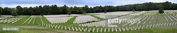 First World War One graves at the Etaples Military Cemetery largest Commonwealth War Graves Commission cemetery in France