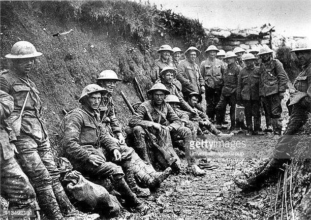 First World War Party of Royal Irish Rifles in a communication trench on the first day of the Battle of the Somme l July 1916