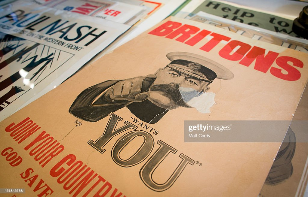 WW1 Recruitment Posters To Be Auctioned : News Photo