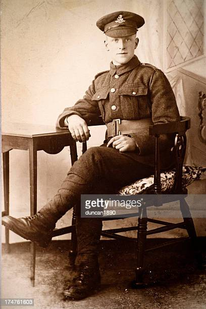 first world war solider - world war i stock pictures, royalty-free photos & images
