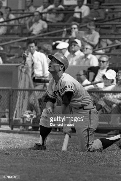 Firstbaseman Sadaharu Oh of the Tokyo Giants of the Japanese Central League awaits his next at bat in the on deck circle during a Spring Training...
