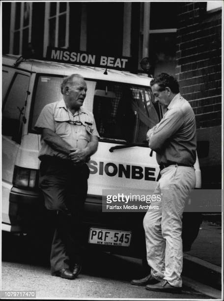 Firsthand look Sydney City Mission employee Mr ken Shelley and Mr Hal Wootten QC before they joined a Missionbeat van on its roundsAfter almost two...