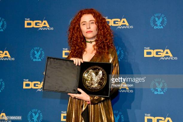 DGA FirstTime Feature Film Award winner for 'Honey Boy' Alma Har'el poses in the press room during the 72nd Annual Directors Guild Of America Awards...