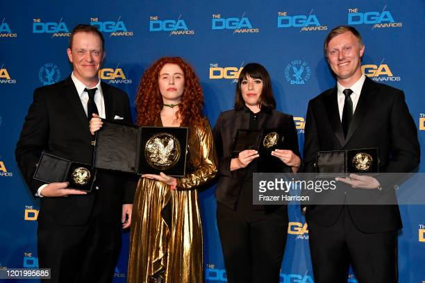 FirstTime Feature Film Award winner for 'Honey Boy' Alma Har'el poses in the press room during the 72nd Annual Directors Guild Of America Awards at...