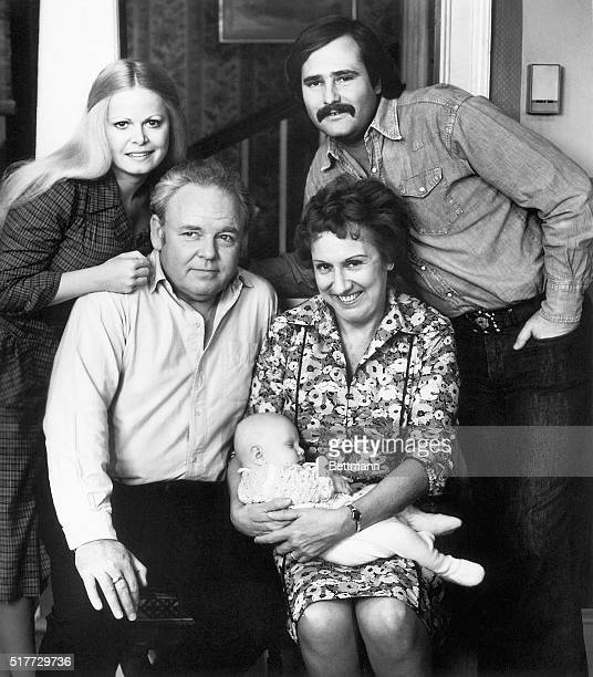 First-time grandparents Archie and Edith Bunker proudly pose with Baby Joey , along with their daughter and son-in-law, Gloria and Mike Stivic , on...