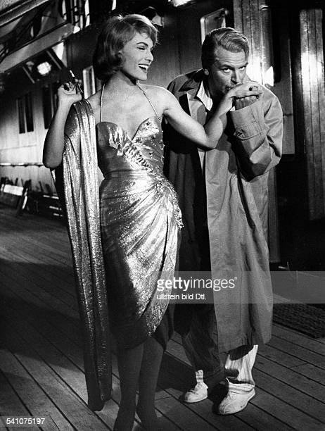 Fischer O W Actor Austria * Scene from the movie 'Peter Voss der Millionendieb' with Margit Saad Directed by Wolfgang Becker West Germany 1958...
