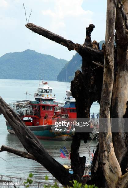 Fischerboot am Anlegesteg Fischerdorf bei Pantai Cenang Insel Langkawi Malaysia Asien FischerBoot Meer Reise NB DIG PNr 1836/2011