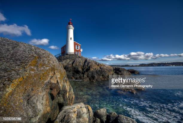 fisgard lighthouse - vancouver island stock pictures, royalty-free photos & images