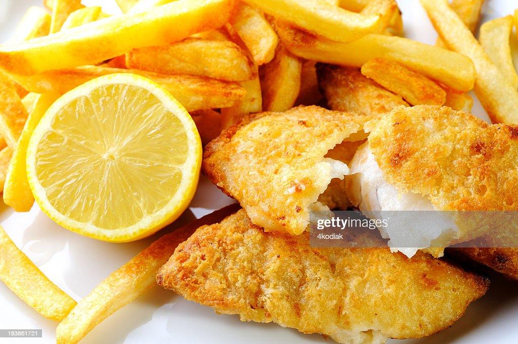 Pescado y Chip : Foto de stock
