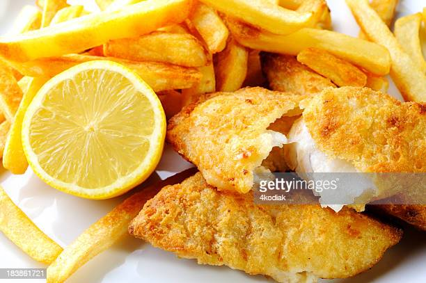 fish and chip - fried stock pictures, royalty-free photos & images