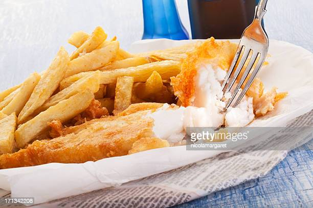 Fish and chips dans le journal