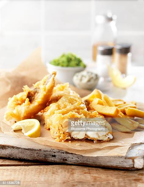 fish and chips - breaded stock photos and pictures