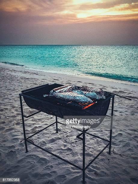 Fish BBQ on the beach
