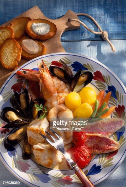 Fish bourride with aioli
