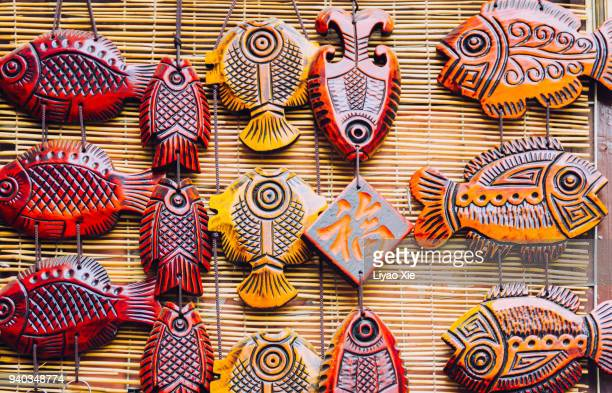 fish decoration - liyao xie stock pictures, royalty-free photos & images