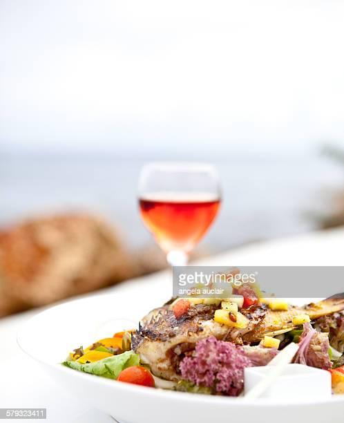 Fish dinner in jamaica
