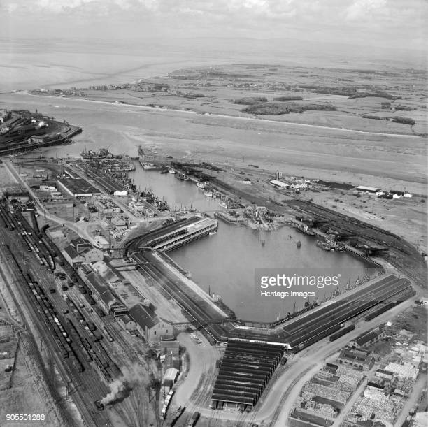 Fish Dock and Wyre Dock Fleetwood Lancashire from the southwest 1949 Artist Aerofilms