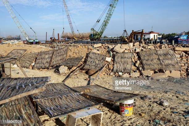 Fish dry in the sun near Tan Quang harbor in Quang Nam province Vietnam on Wednesday June 26 2019 Fishermen are on the front lines of Asias most...