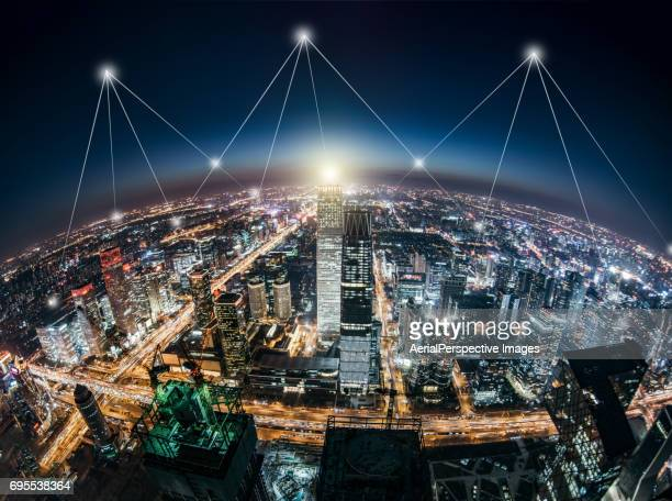 Fish eye View of Smart City, Beijing, China