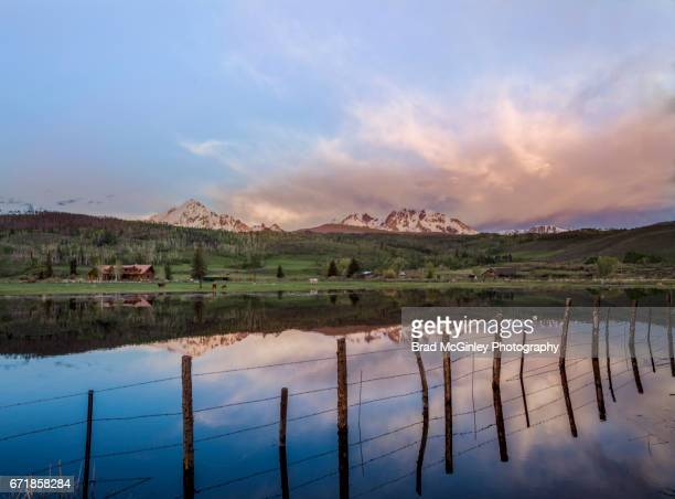 fish fence - gore range stock photos and pictures