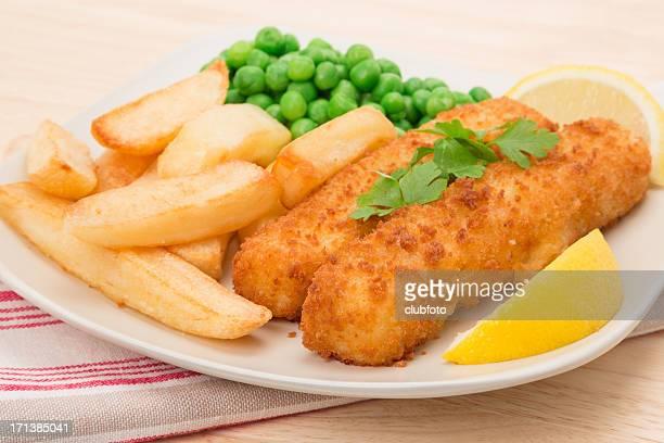Fish finger Abendessen