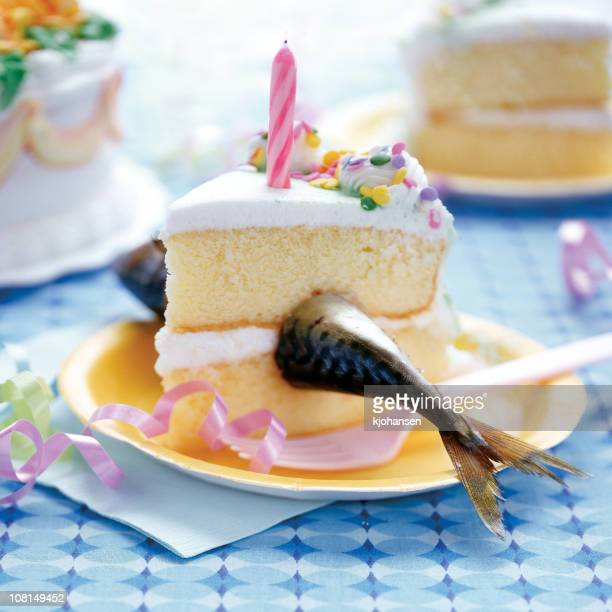 fish in a birthday cake - out of context stock pictures, royalty-free photos & images