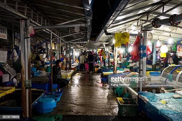 CONTENT] Fish Market at Night Jumunjin Port Gangneung South Korea