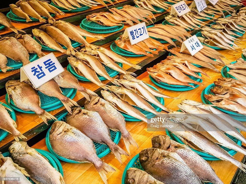Fish Market South Korea Busan : Stock Photo