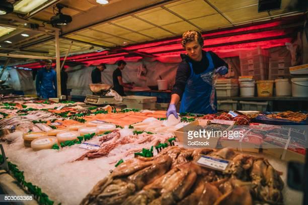 Fish Market Stall in Amsterdam