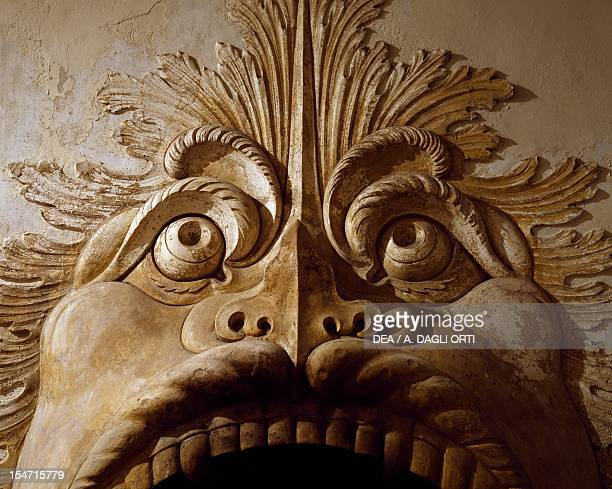 Fish Mask or Fish Fireplace, Villa della Torre, Fumane, Veneto. Detail. Italy, 16th century.