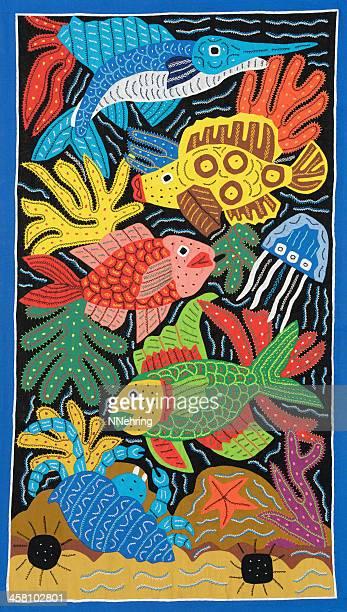 pez mola - mola kuna fotografías e imágenes de stock
