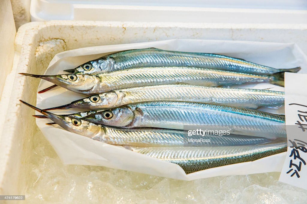 Fish On Ice In Styrofoam Box At Fish Market Stock Photo - Getty Images