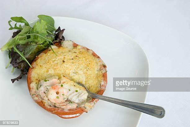Fish pie with prawns